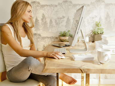 toogahomeoffice How to create good feng shui for your home office